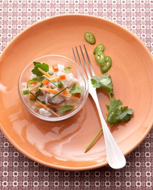 Ceviche de poissons à la tahitienne