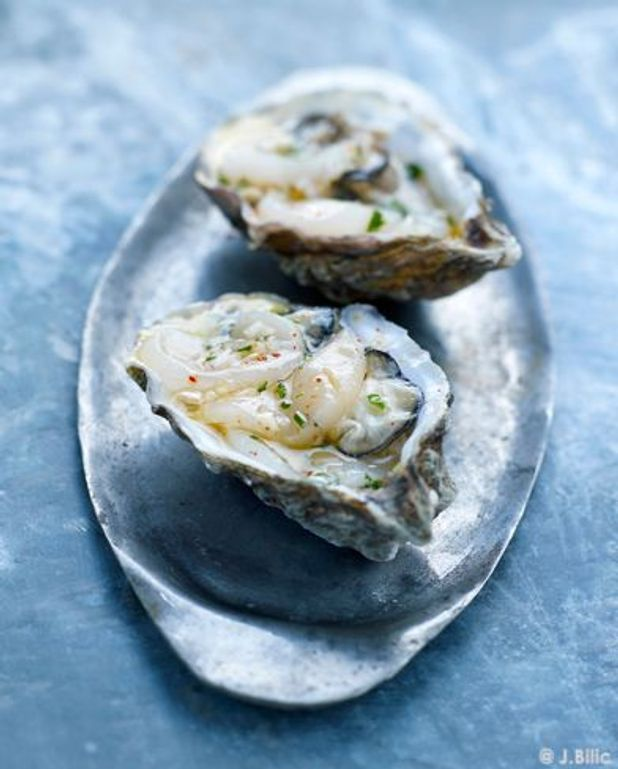Ceviche de saint-jacques et d'huîtres