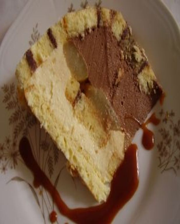 charlotte poire chocolat pour 6 personnes - recettes elle à table