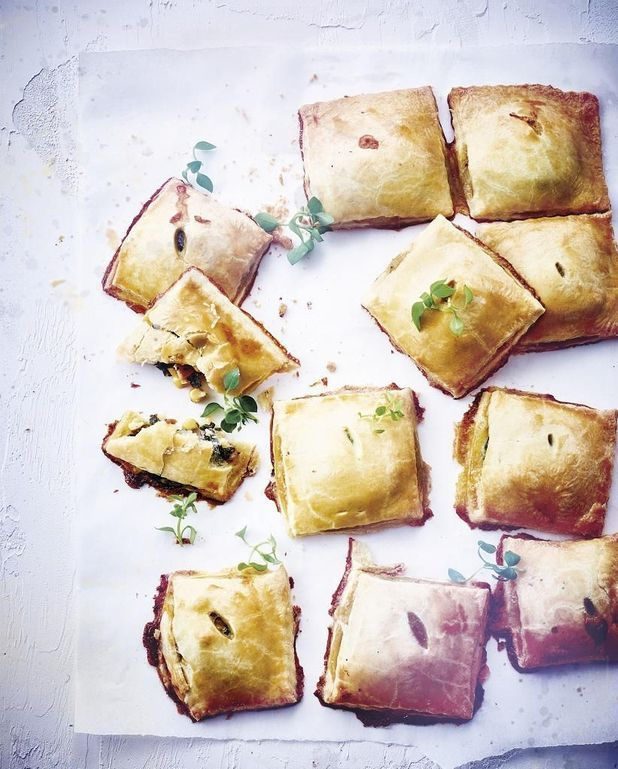 Chaussons aux légumes et au fromage