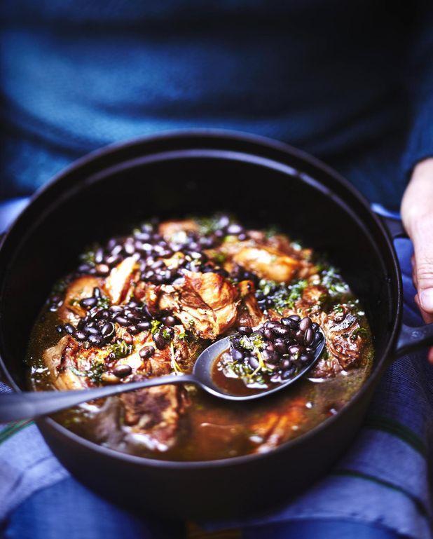 Chili black beans à l'agneau