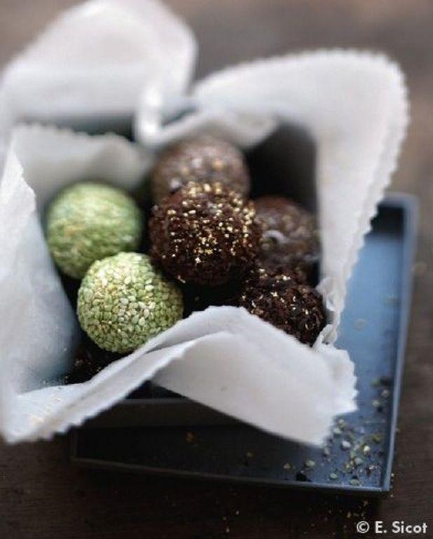 Chocolats au curcuma, gingembre et piment