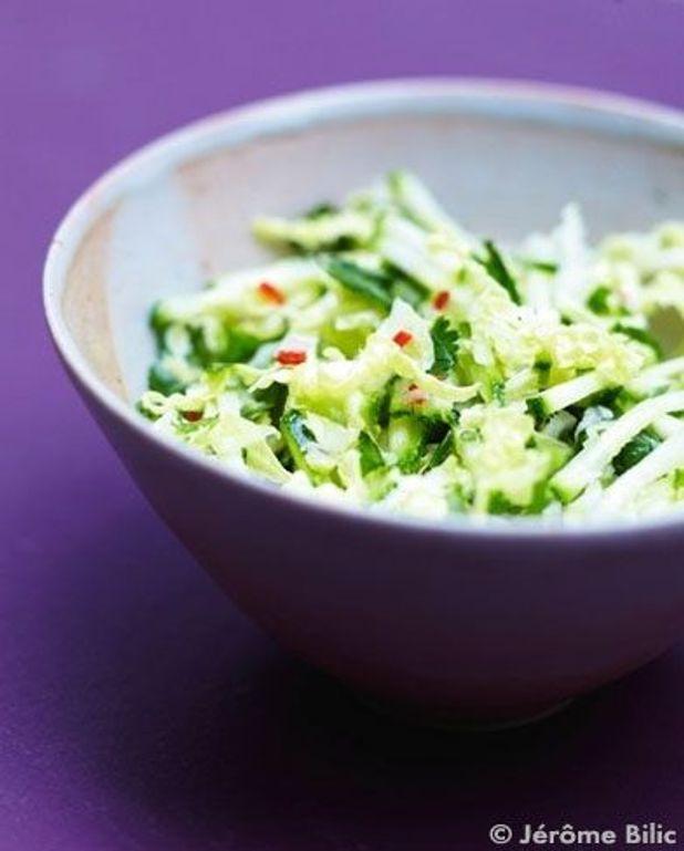 Salade de chou chinois et courgettes