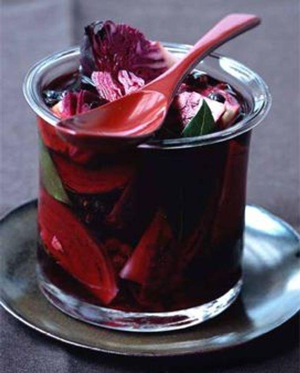 Chou rouge mariné au vinaigre et aux épices