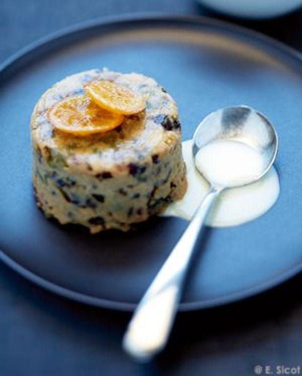 Christmas puddings, crème anglaise aux épices