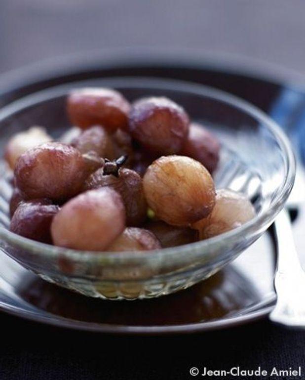 Cipolline in agrodolce (Petits oignons grelots confits, caramélisés, glacés à l'aigre-doux)