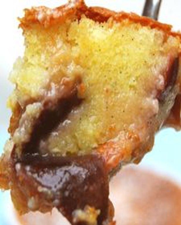 Clafoutis aux figues, fromage de chèvre et miel
