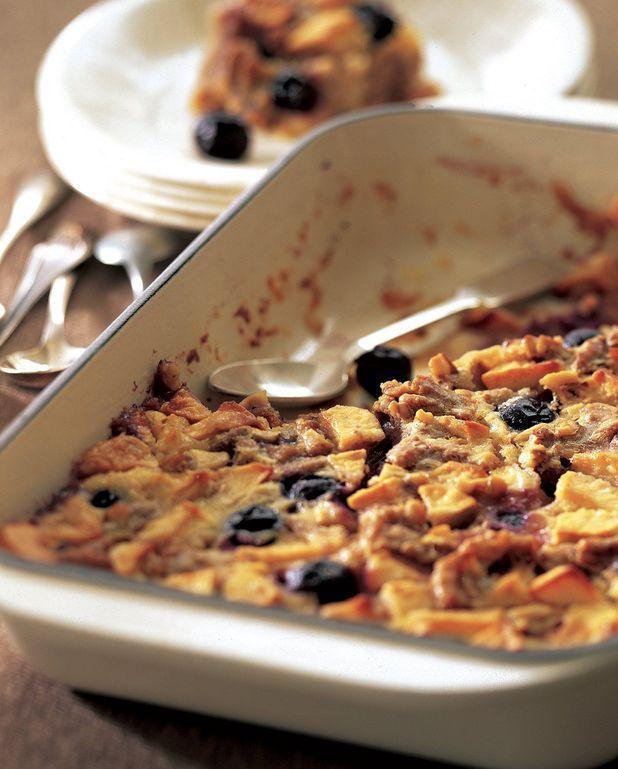 Clafoutis aux raisins, pommes et noix