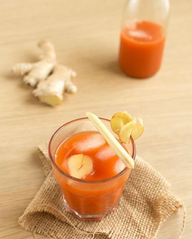 Cocktail cranberry carotte sans alcool