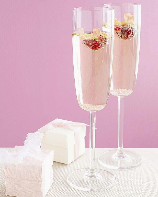 Cocktail Rose Rosé au champagne et à la framboise