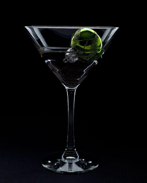 Cocktail vodka black menthe