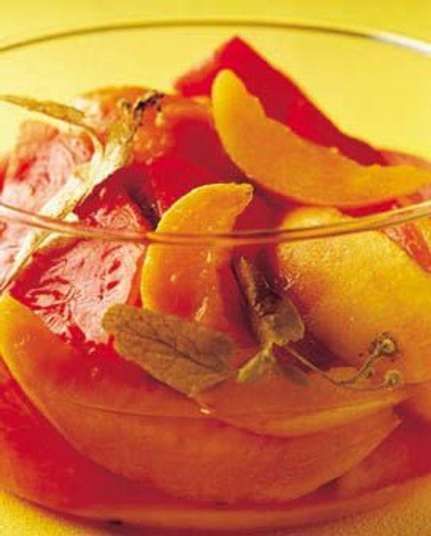 Compotée de melon et pastèque