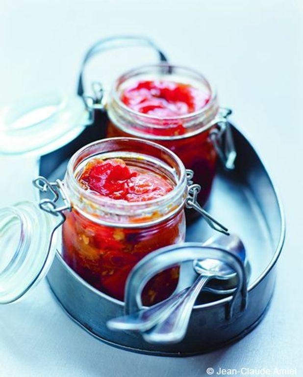 Confit de poivrons à la coriandre fraîche
