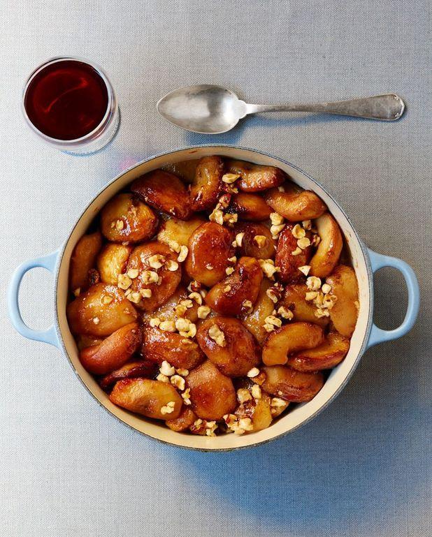 Confit de pommes et de poires au caramel