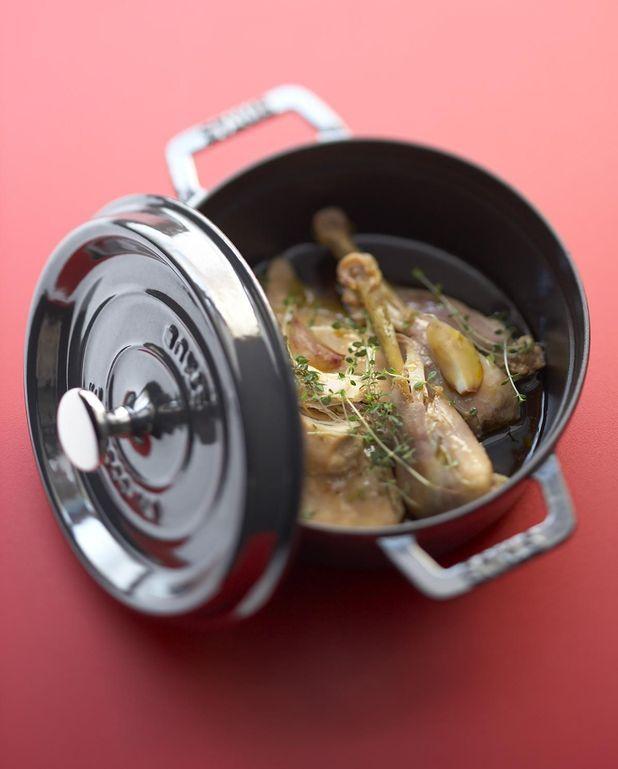 Confit de poulet à l'huile d'olive