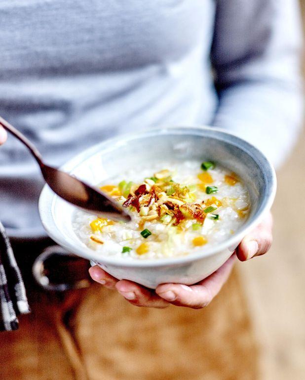 Congee au potiron et cacahuètes