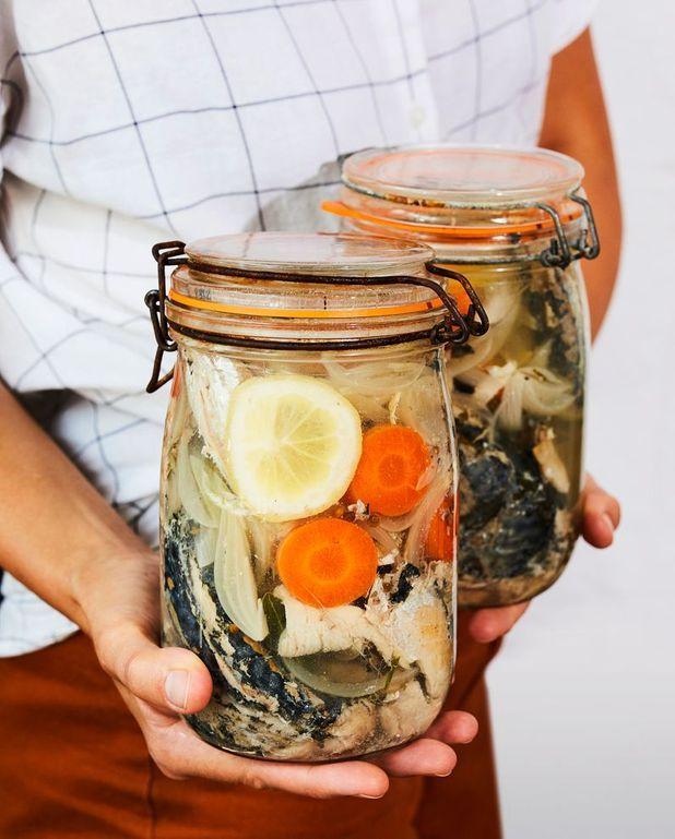 Conserve de maquereaux au vin blanc et aromates
