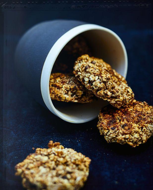 Cookies banane, flocons d'avoine et chocolat noir