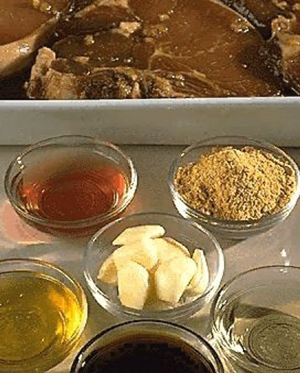 Côtes de porc au soja