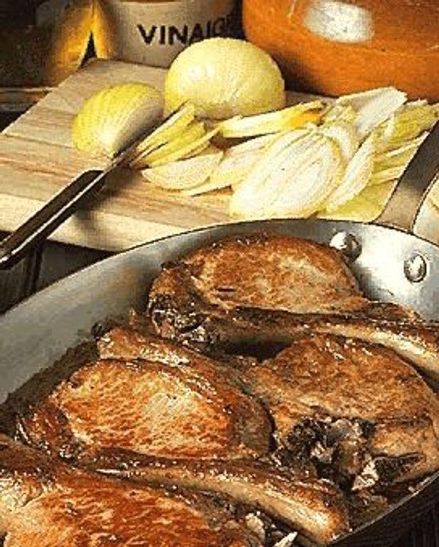 Côtes de porc aux oignons Version 1