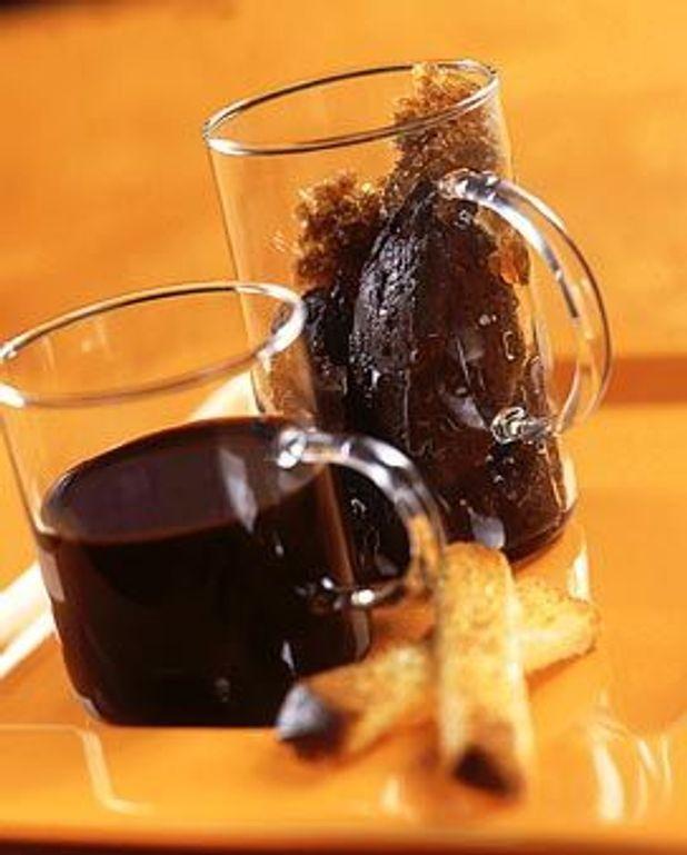 Coupe chocolat-café, mouillettes de brioche