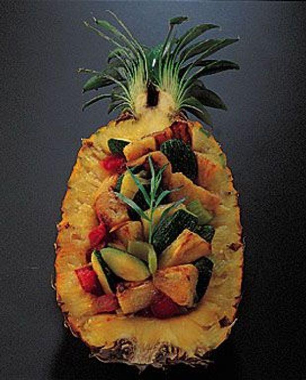 Courgettes à l'ananas et au curry