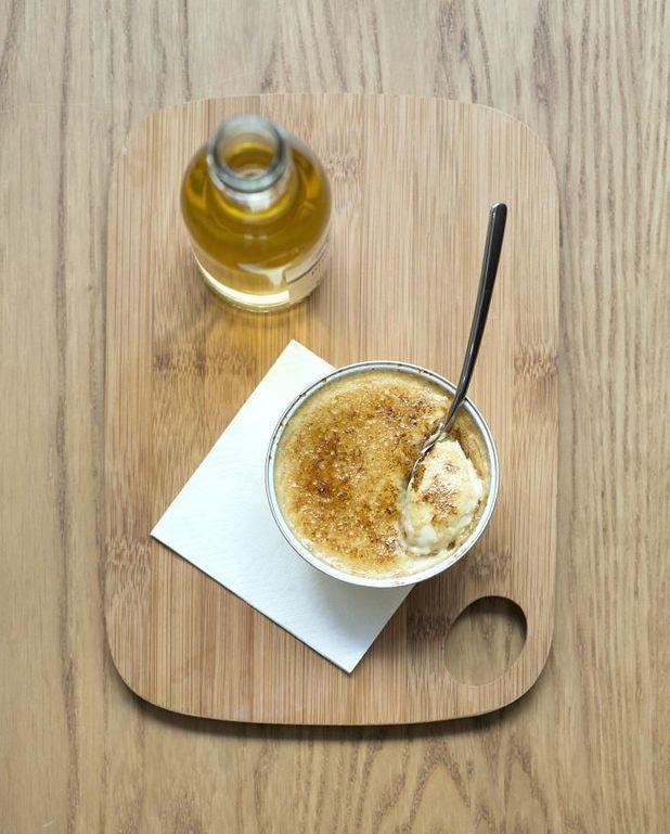 Crème brûlée gorgonzola oignons