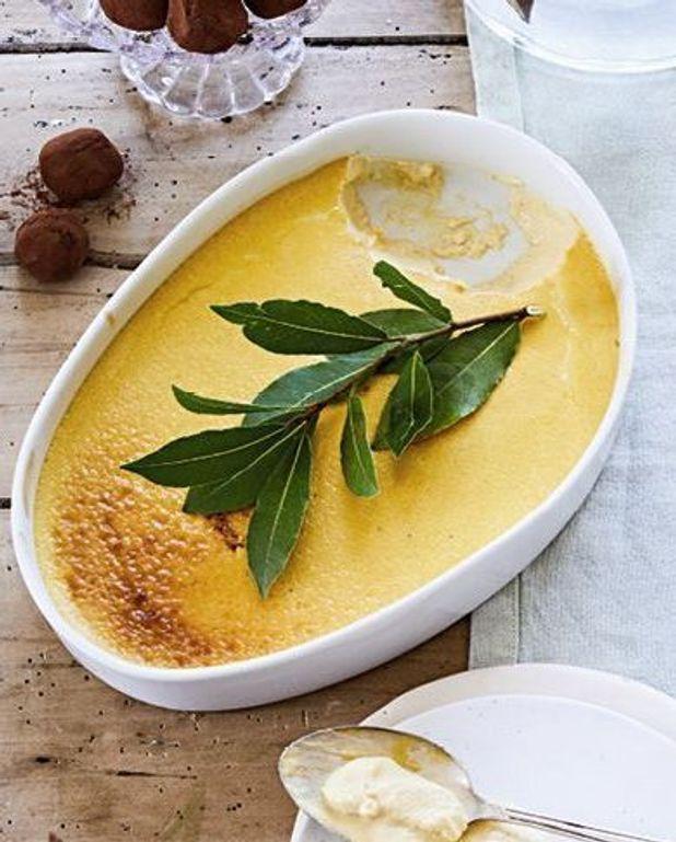Crème cuite au miel de sarrasin, vanille et laurier