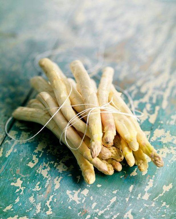 Crème d'asperges et crevettes