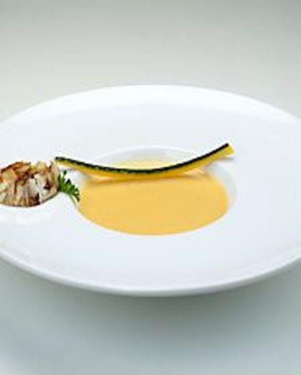 Crème de courge et ail rôti