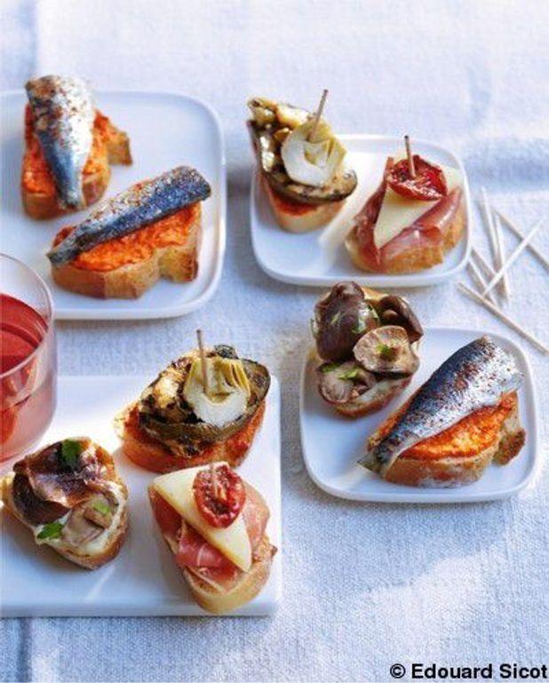 Crème de poivron, sardines et piment d'espelette
