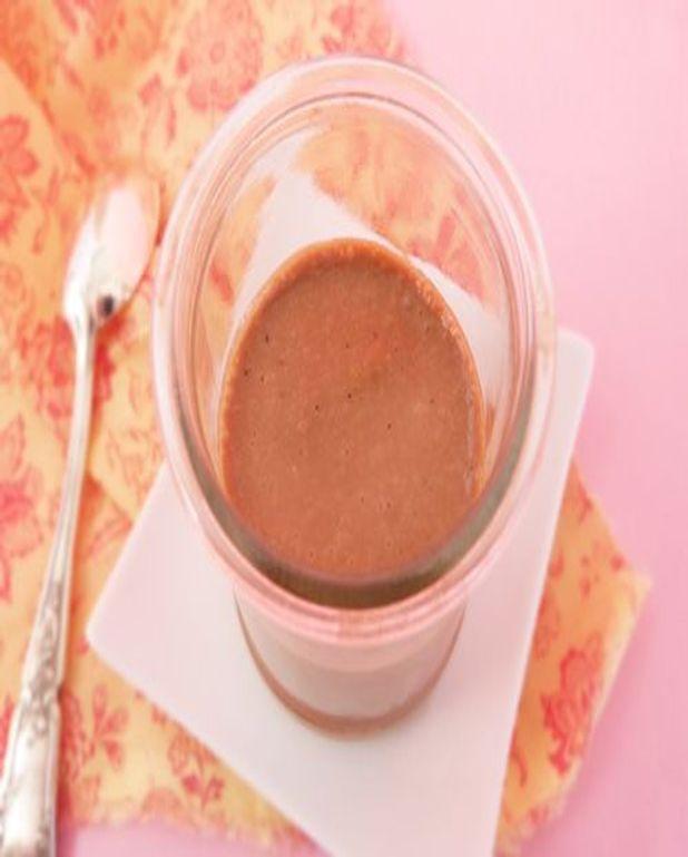Crème végétarienne au café et chocolat blanc