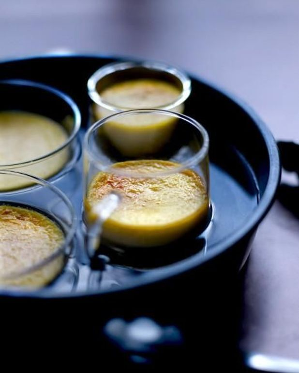Crèmes brûlées au foie gras faciles