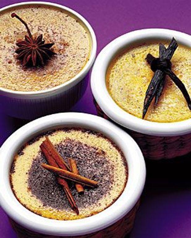 Crèmes brûlées aux trois épices