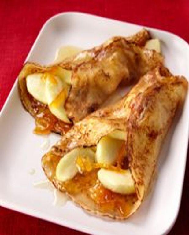 Crêpes aux pommes caramélisées au sel de Guérande