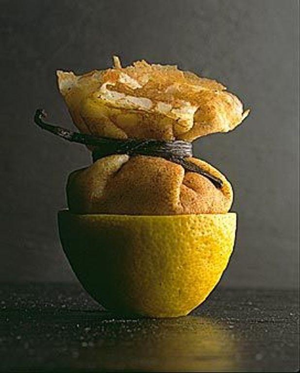 Crêpes fourrées à la crème légère au citron