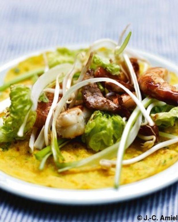 Crêpes vietnamiennes à la farine de riz