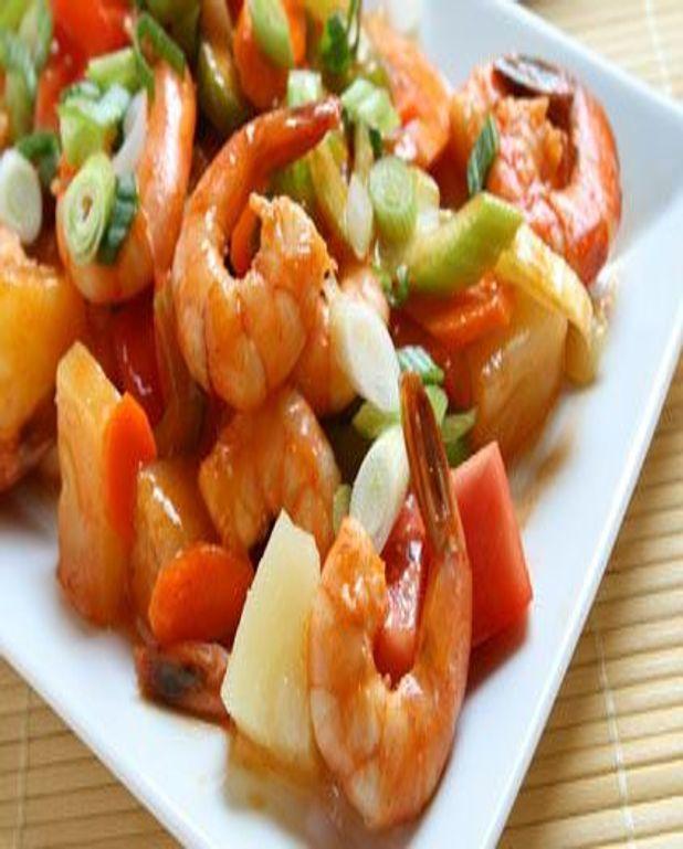 Crevettes à l ananas