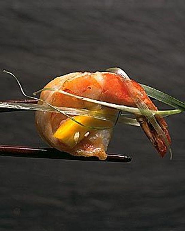 Crevettes à la mangue