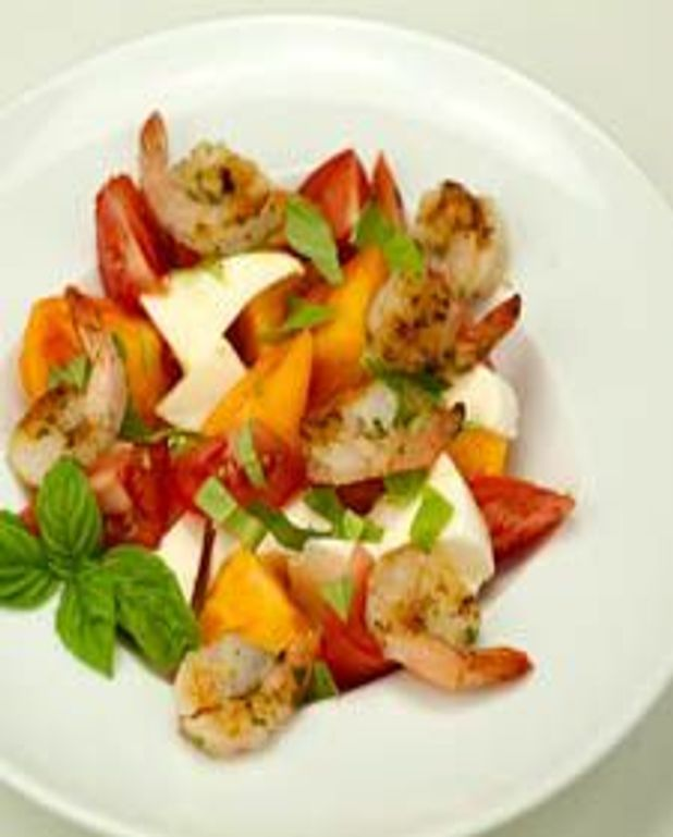 Crevettes grillées au thym et citron