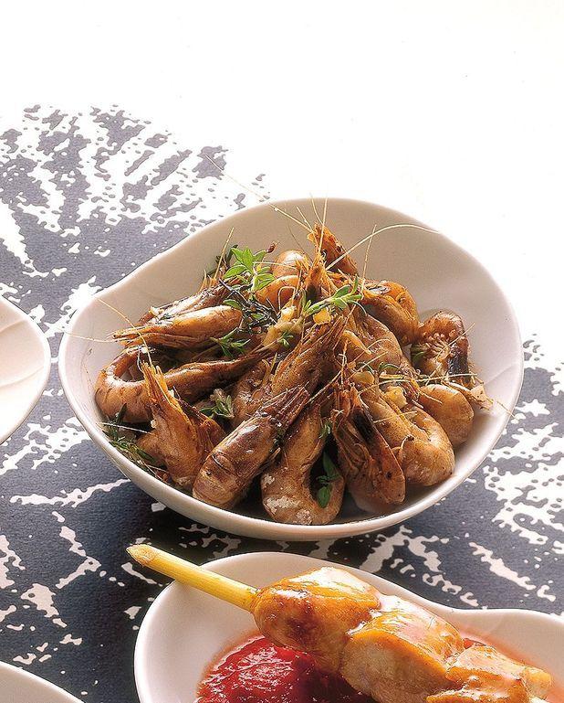 Crevettes grises sautées