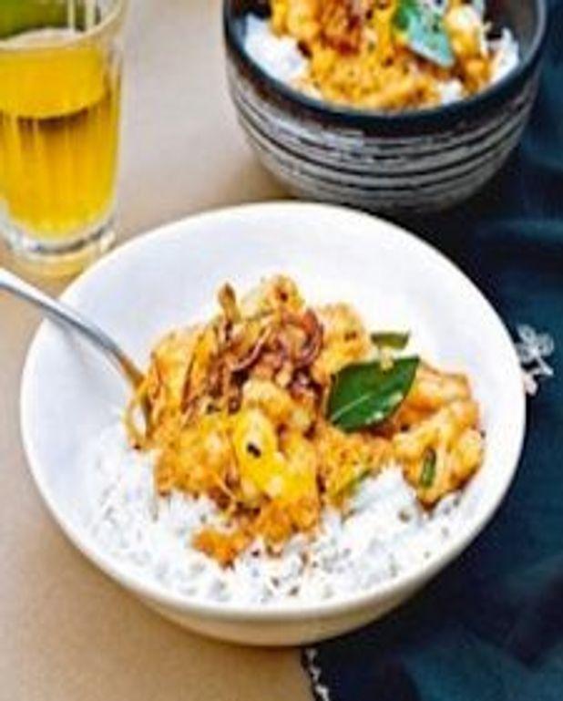 Crevettes malabares au curry