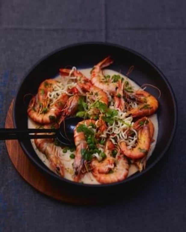 Crevettes un peu thaïes