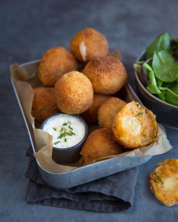 Croquettes de patate douce à la raclette
