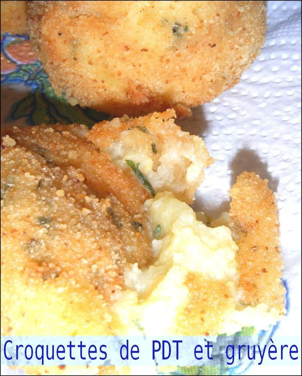 Croquettes de pomme de terre et gruyère