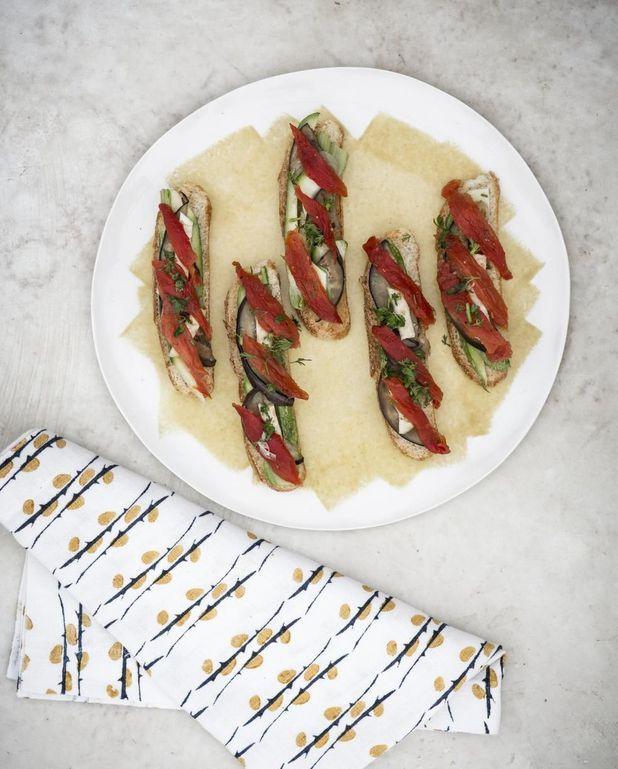 Crostinis de légumes grillés
