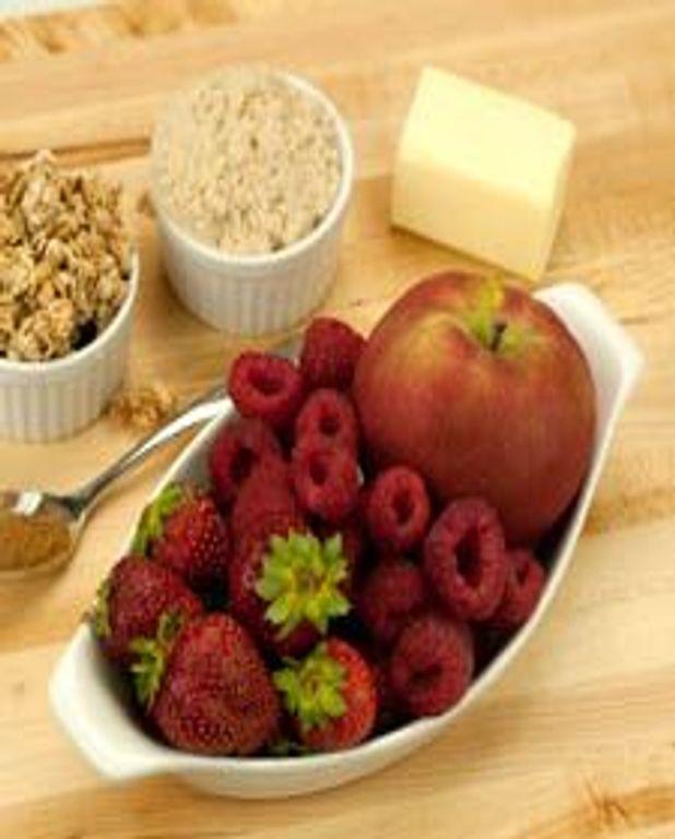 Croustade aux pommes et aux fruits rouges