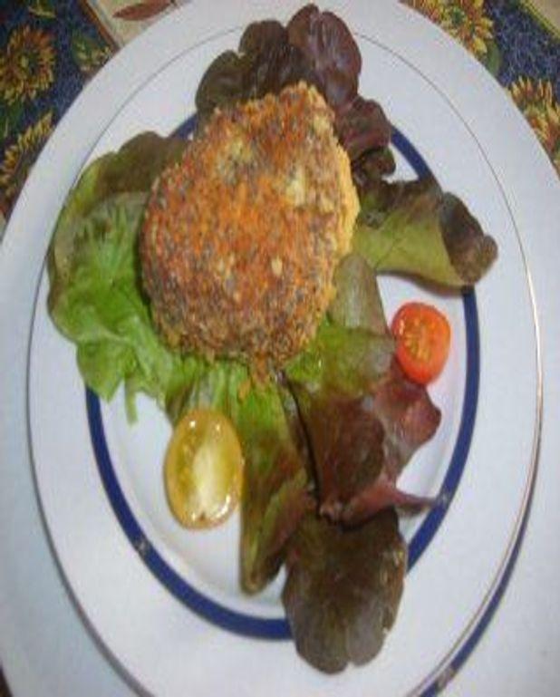 Croustillant de camembert au pavot