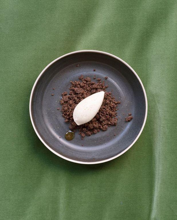 Crumble chocolat, glace Antésite