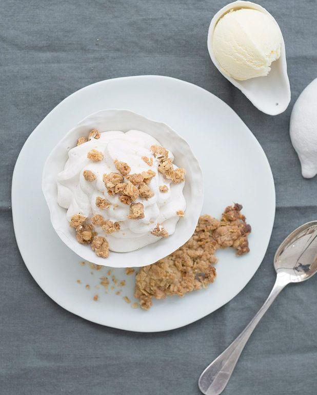 Crumble d'avoine et crème aux marrons de Chiho Kanzaki